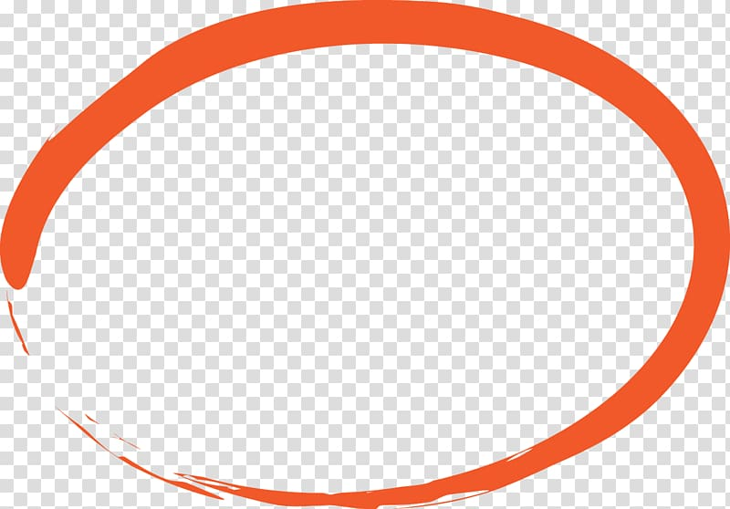 Marker pen Circle Pencil , circle, orange oval logo.