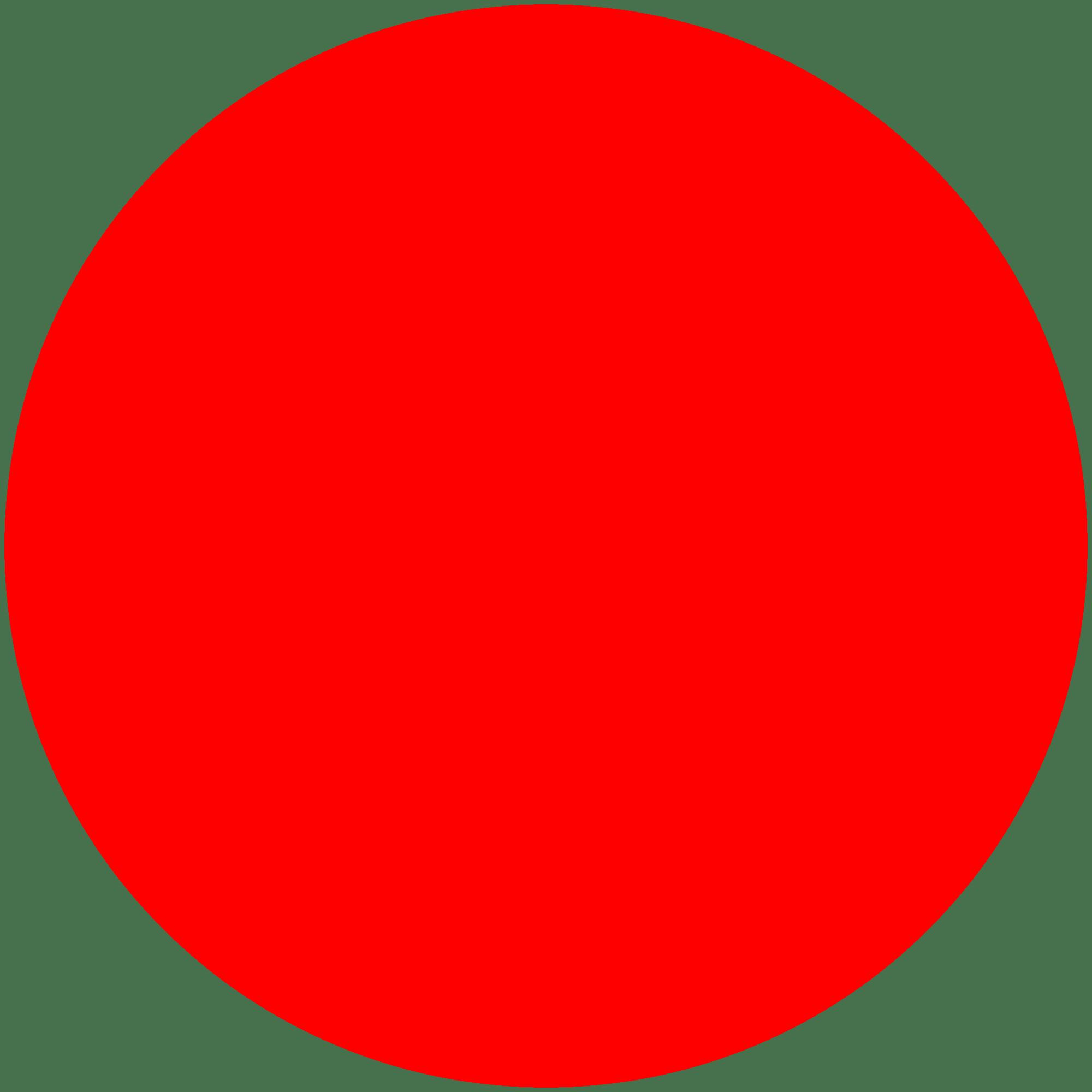Red Circle transparent PNG.