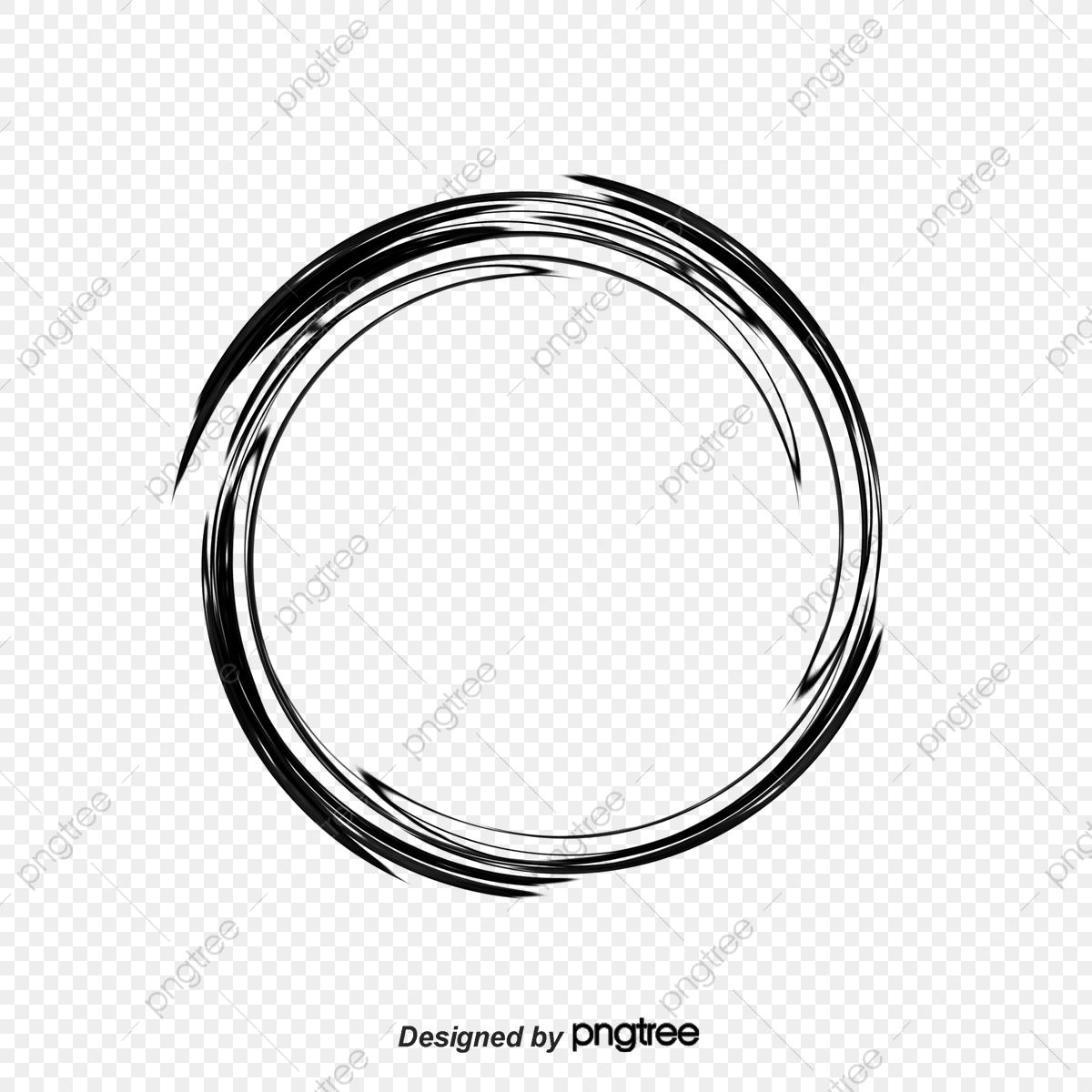 Brush Circle Creative, Brush Clipart, Circle Clipart, Brush Ring PNG.