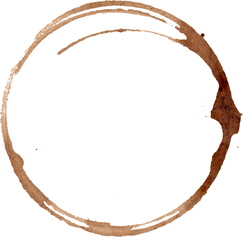6 Coffee Stain Rings (PNG Transparent).