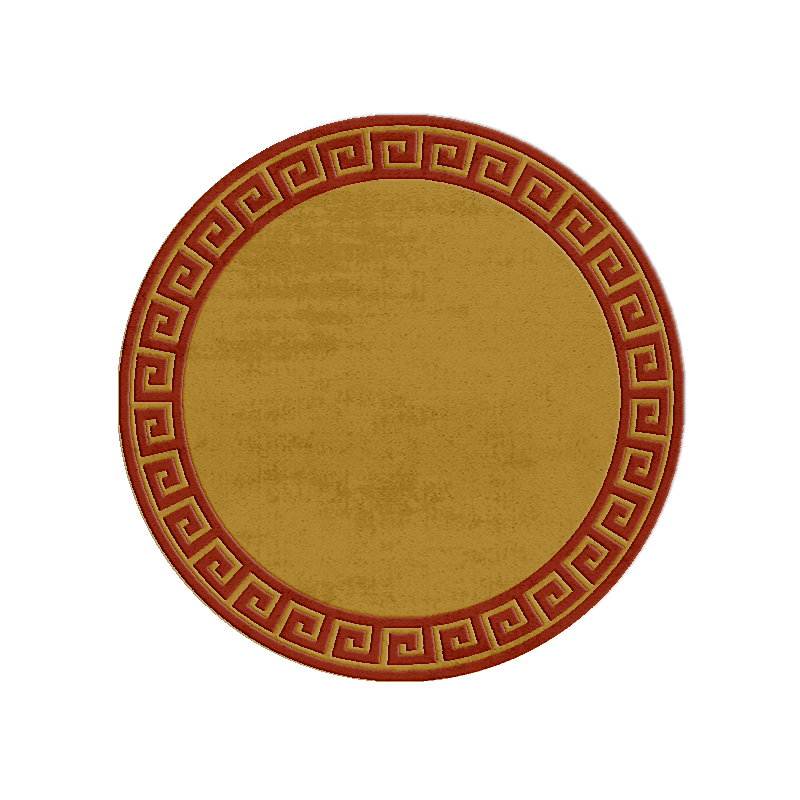 Round Greek Key wool rug custom made to your diameter in 96 colours.