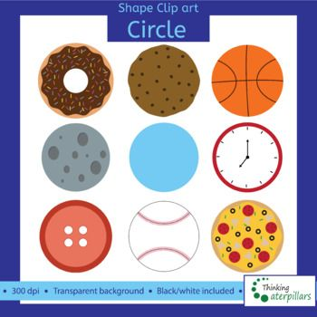 Circle objects 2D Clip art (shapes).