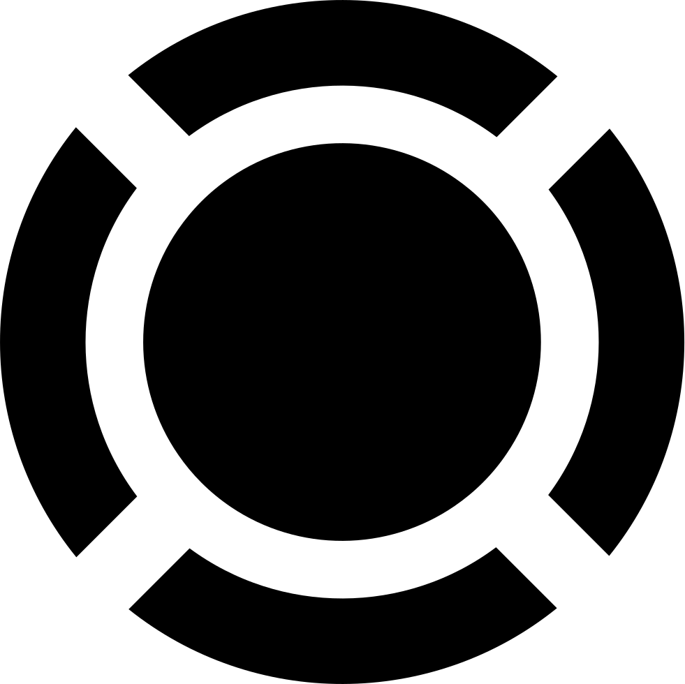 Circular Shape With Four Curved Lines Around Forming A Circle Svg.