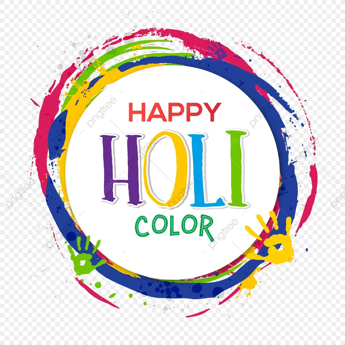 Holi Festival Greeting With Colorful Circle Shape, Holi, Festival.