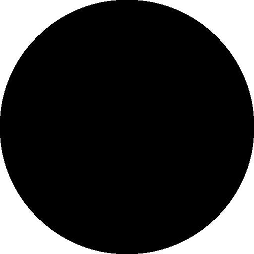 Circular shape silhouette.