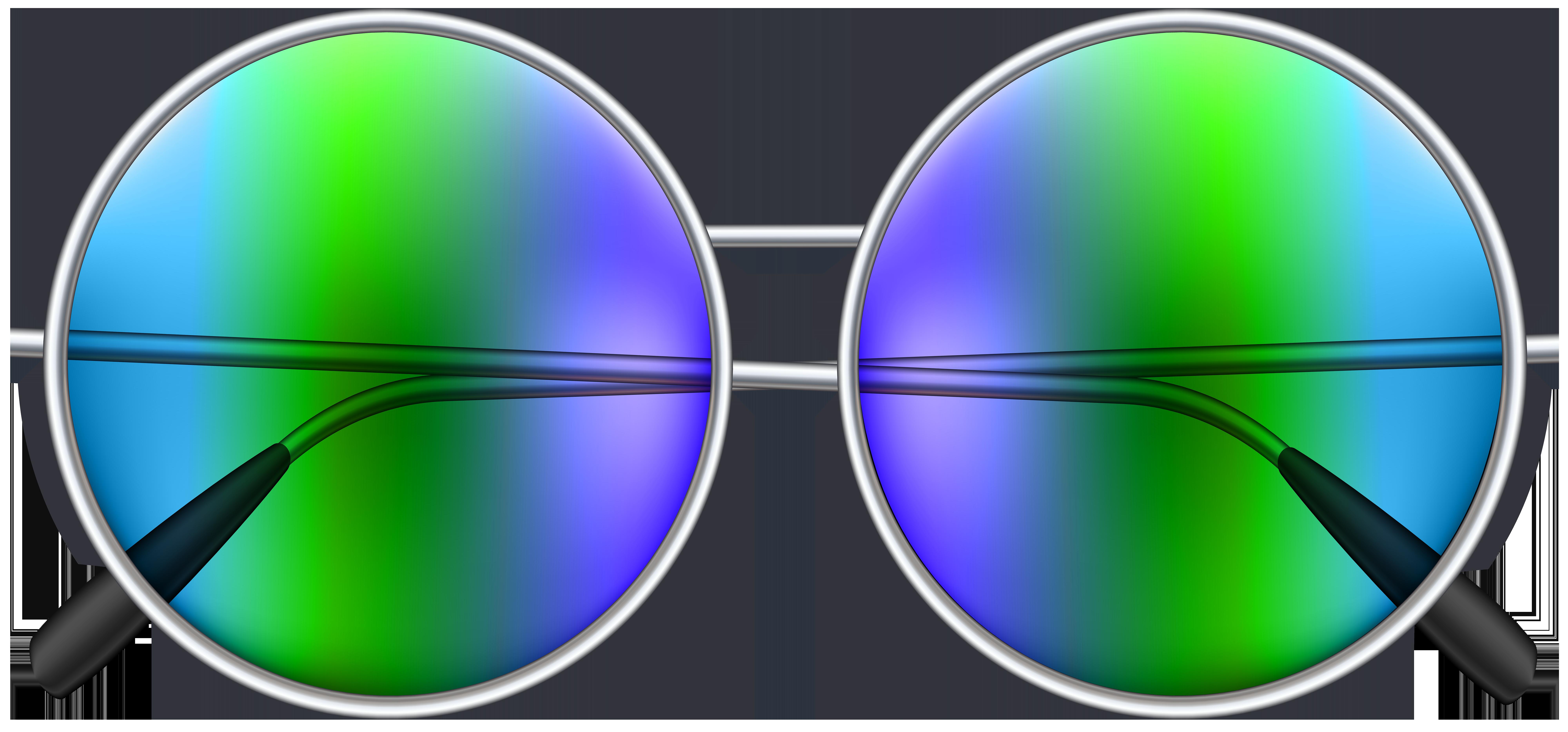 Round Sunglasses PNG Clip Art Image.