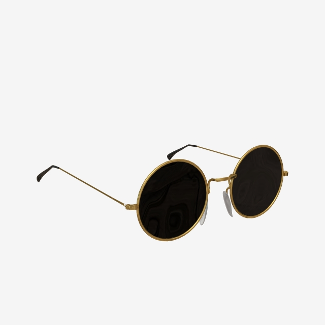 Black Round Sunglasses, Sunglasses, Sunglasses, Glasses PNG.