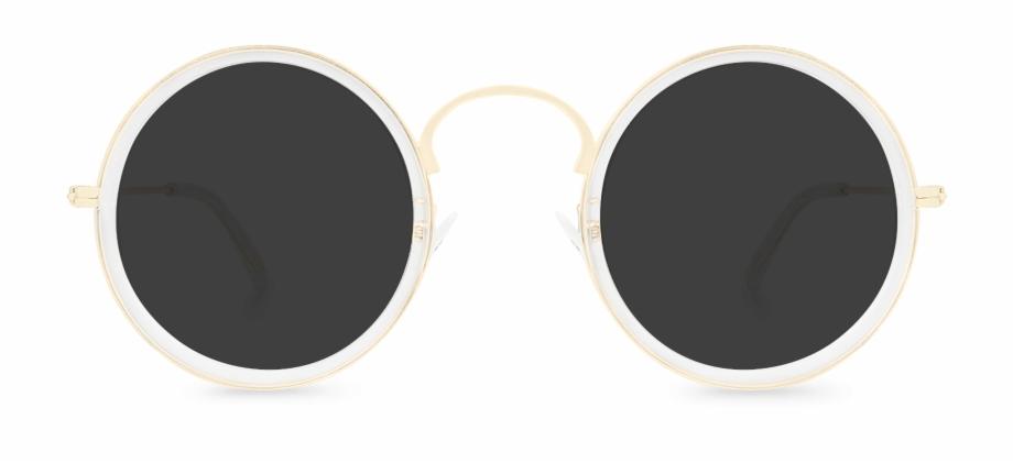 Mellow Clear S Round Sunglasses Polette.
