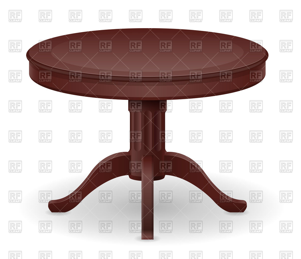 Round wooden table Stock Vector Image.