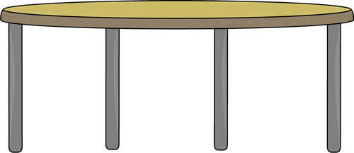 Circle table clipart.