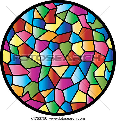 Clipart of Stained Glass Circular Window k4753750.