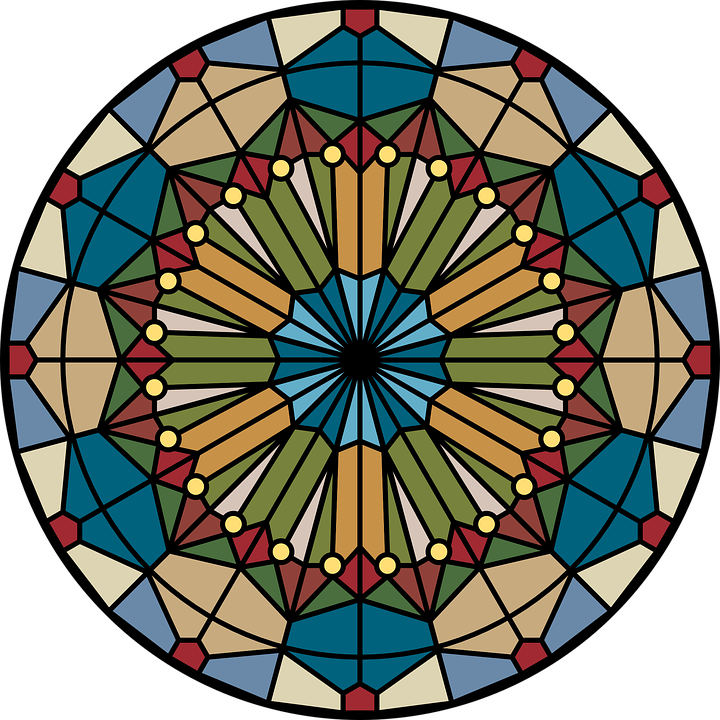 Free vector graphic: Church, Glass, Rose, Stained.