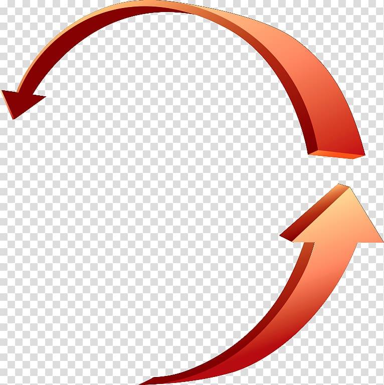 Two orange curved arrows, Arrow Circle , Circular arrow.