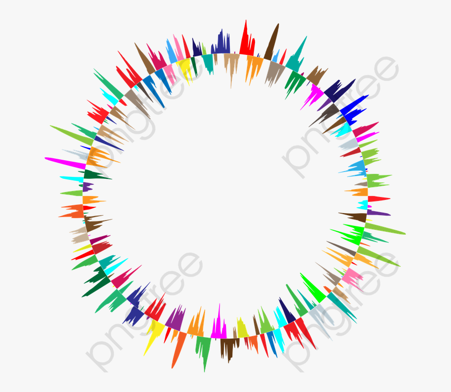 Prismatic Circle Combination Clipart.