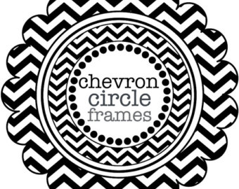 circle with red cheveron print clipart #9