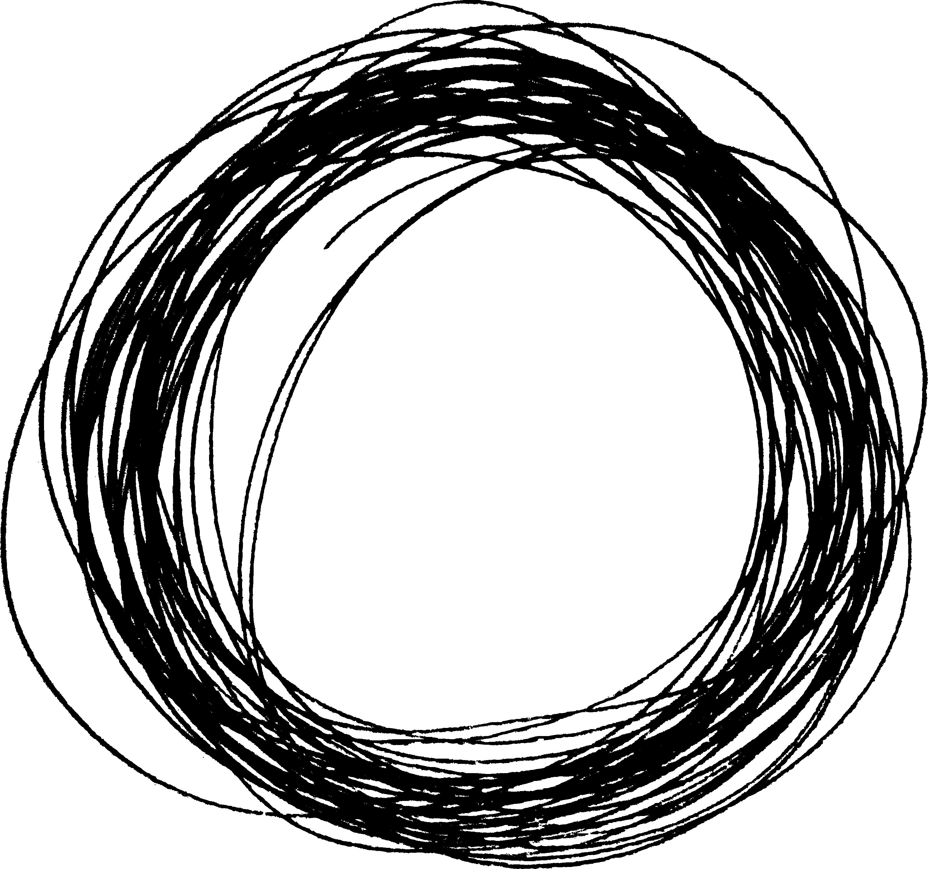 10 Scribble Circle (PNG Transparent).