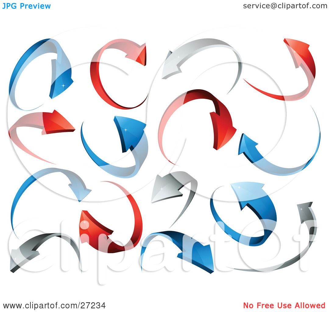 Clipart Illustration of a Background Of Red, Gray And Blue.
