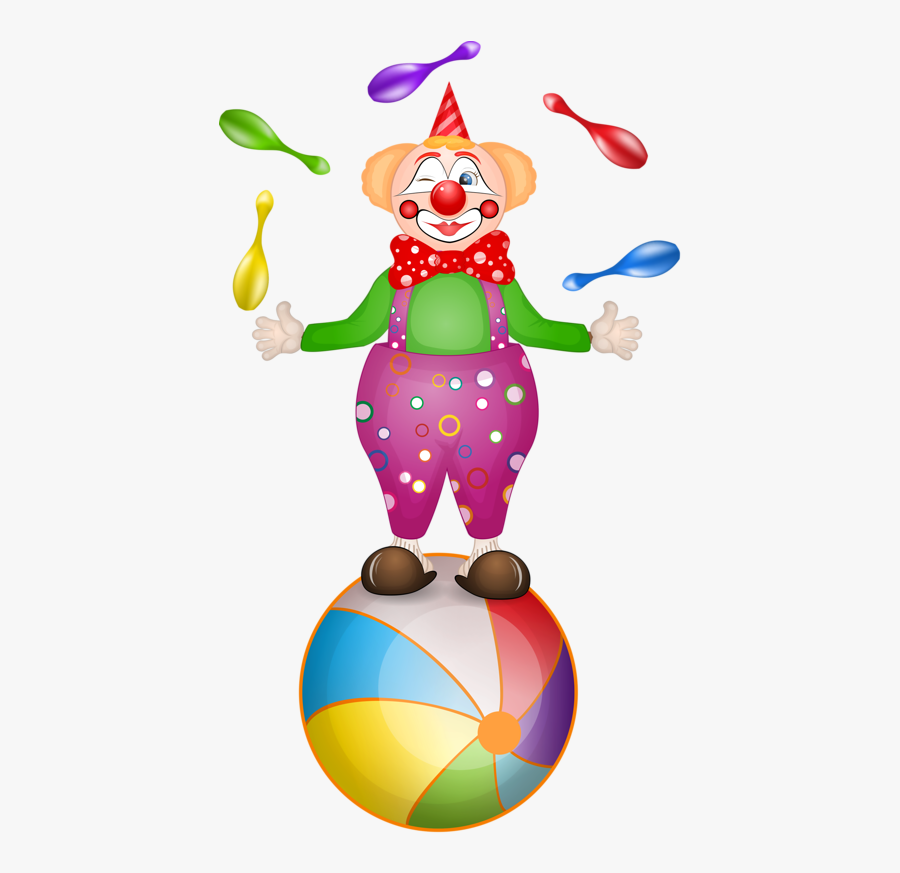 Clown Circus Cartoon Clip Art.