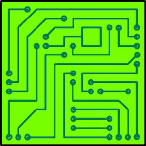 Electronic circuit clip art.