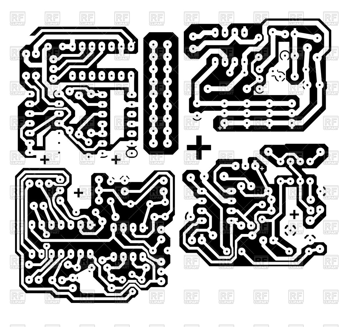Printed circuit board Stock Vector Image.