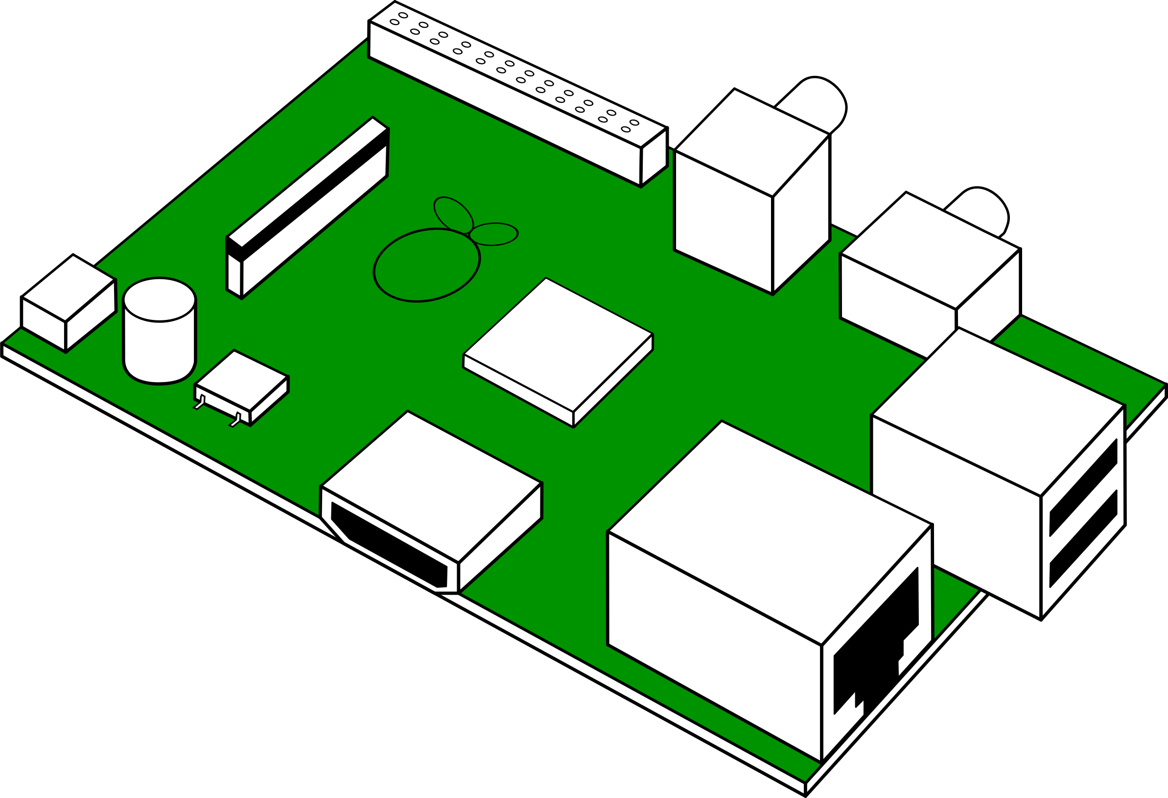 Motherboard Circuit Illustration: Pcb Clipart
