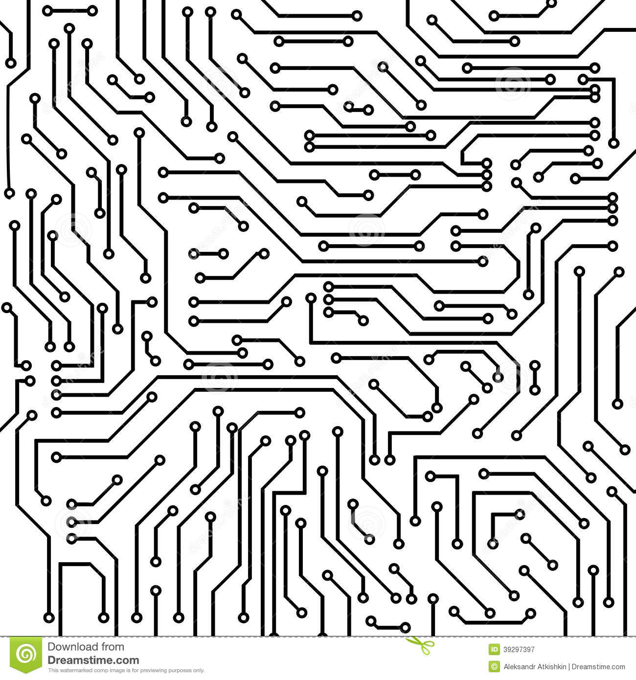 black and white circuit board clipart Clipground