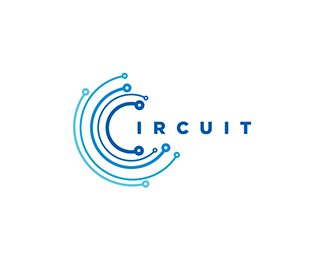 logo Circuit Blue Logo design.