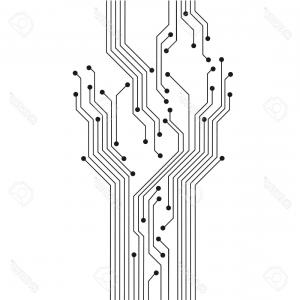 Photostock Vector Abstract Circuit Tree Board Technology Modern.