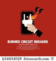 Circuit breaker Clip Art Vector Graphics. 79 circuit breaker EPS.