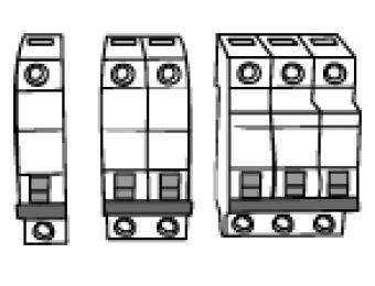 Miniature circuit breakers (MCBs).