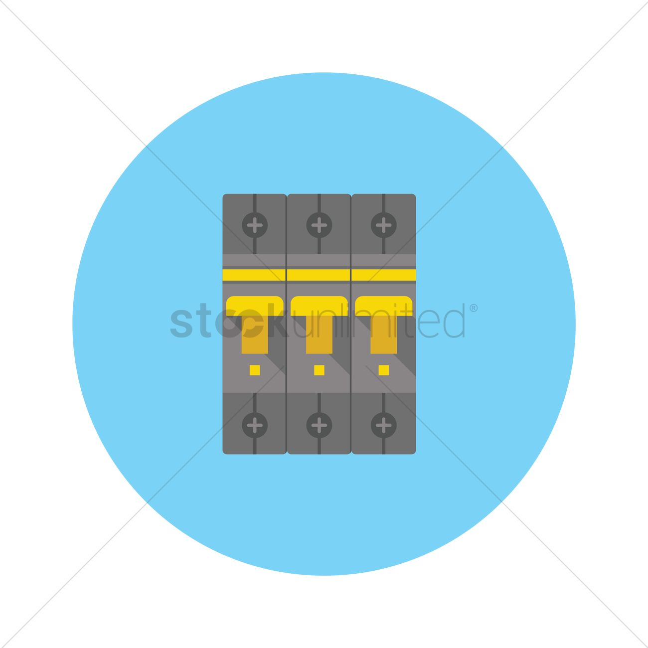 Circuit breaker and fuse box Vector Image.