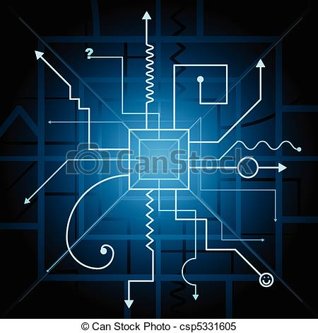 Schematic diagram Vector Clipart Royalty Free. 434 Schematic.