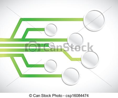Vectors Illustration of circuit network diagram illustration.