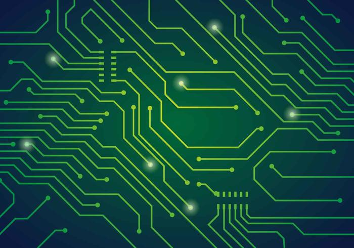 Printed Circuit Board Vector Illustration.