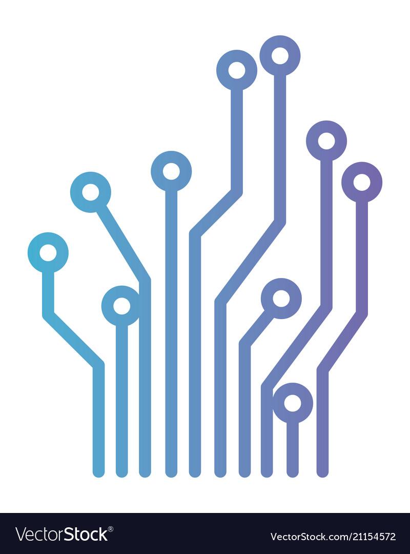 Circuit electric lines icon.