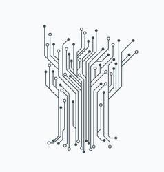 Microelectronics circuits circuit board Royalty Free Vector.