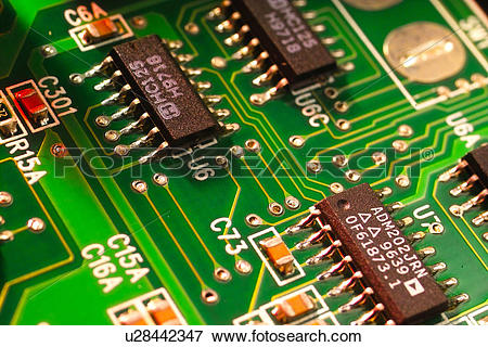 Picture of parts, chip, part, semiconductor u28442347.