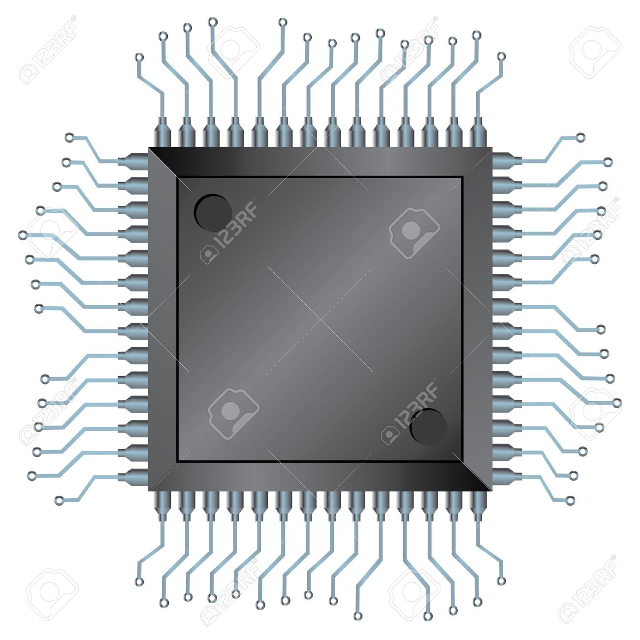 Electronic Semiconductor Integrated Component Royalty Free.