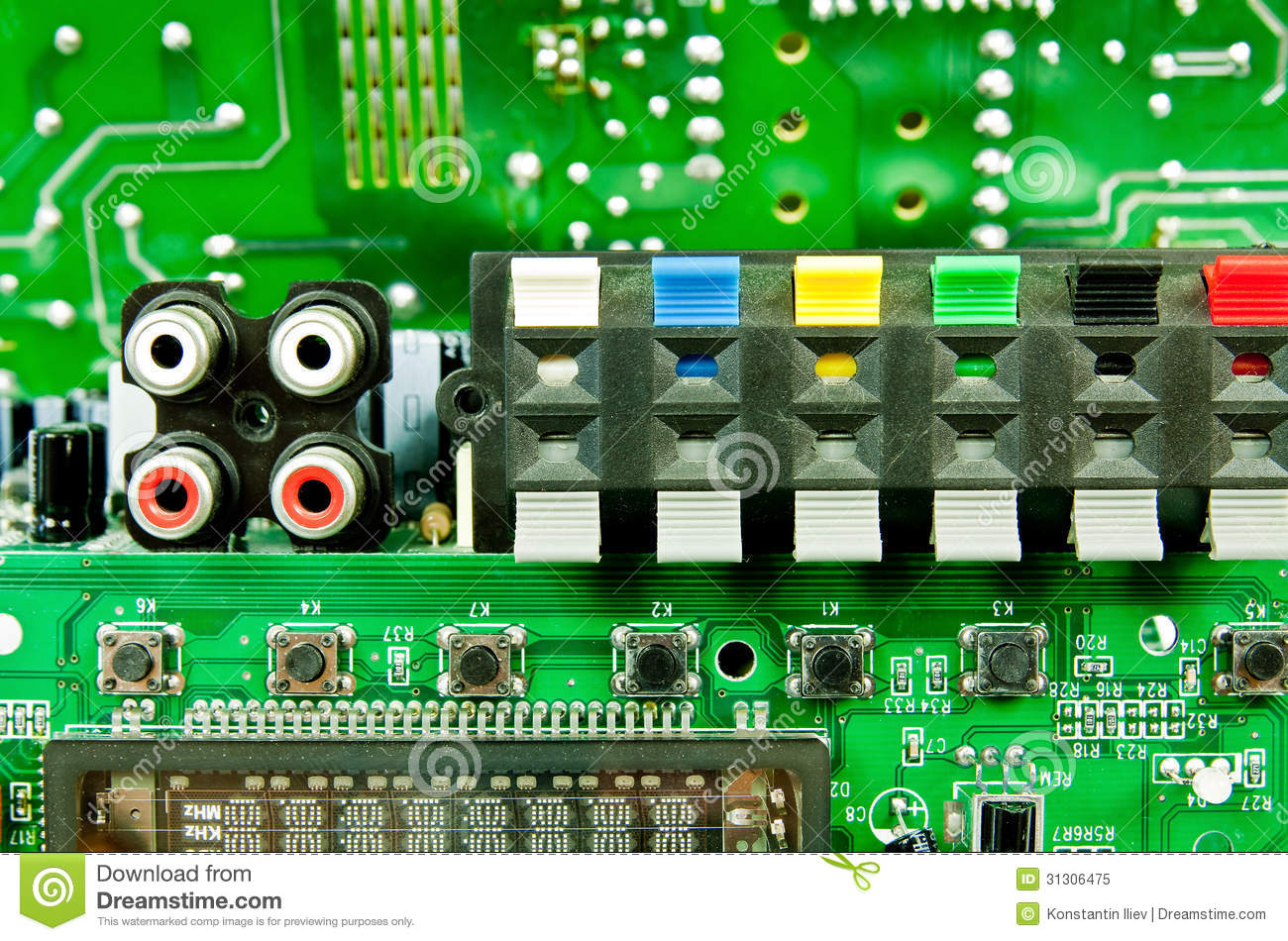 Circuit Board Chips Clipart.