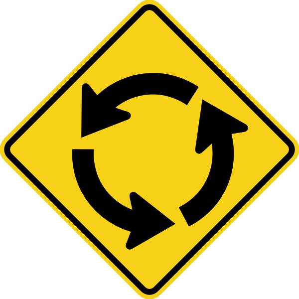 Circular Intersection Sign Clip Art at Clker.com.
