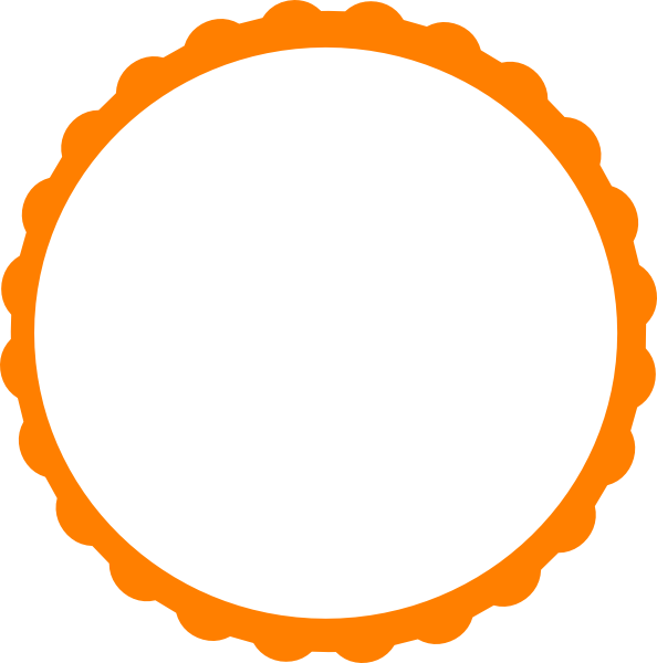 Circular Flame Boarder Clipart.