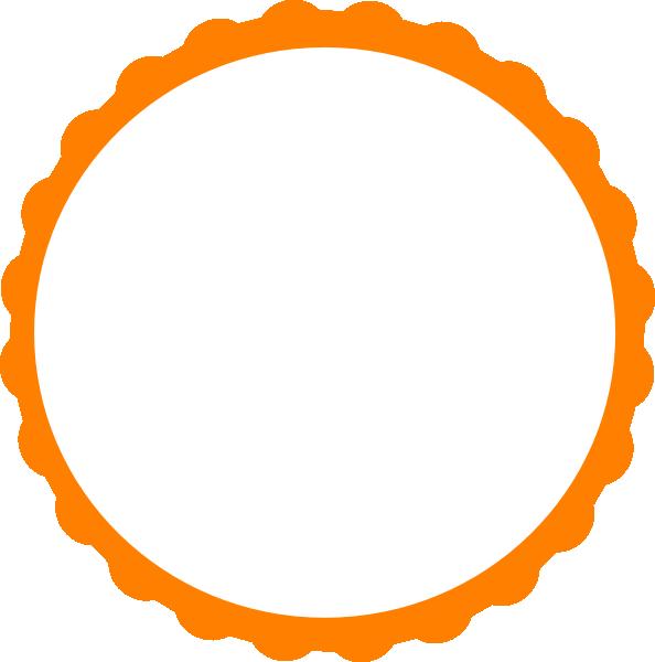 Circular Flame Boarder Clipart.
