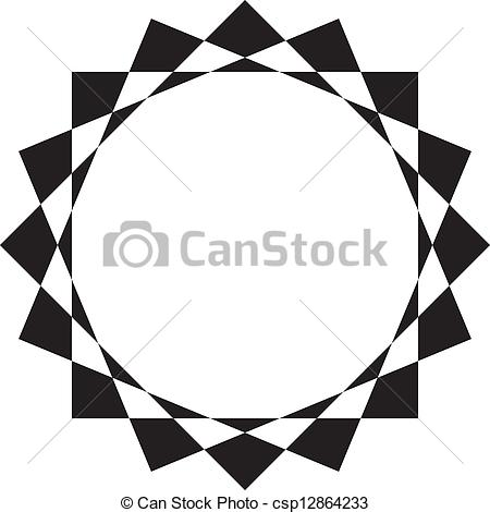 Vectors of Abstract circular frame design background csp12864233.