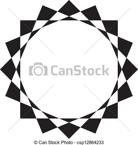 Vectors of Abstract circular frame design background csp12864233.