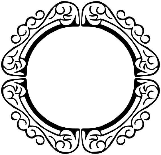 Ornate circular frame.