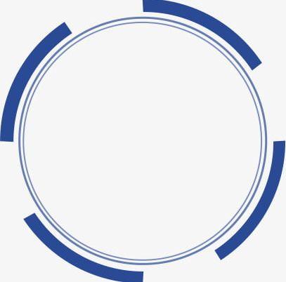 Blue Circular Frame Border PNG, Clipart, Blue, Blue Clipart, Border.