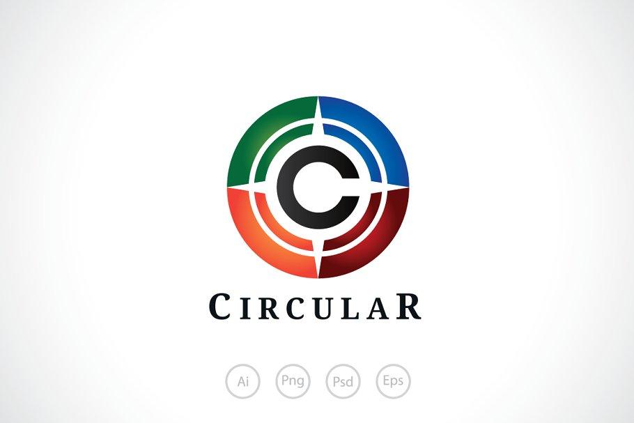 Alphabet C Circular Logo Template ~ Logo Templates ~ Creative Market.