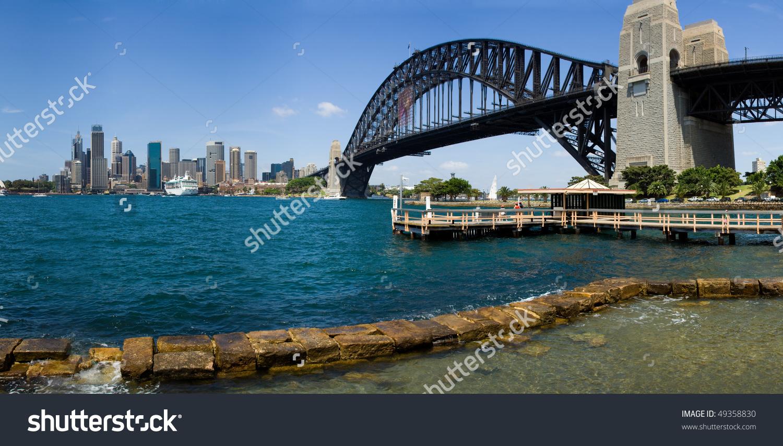 Australia Sydney Circular Quay City Skyscrapers Skyline Panorama.