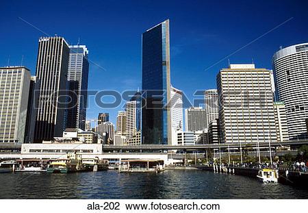 Stock Photo of Skyline and Circular Quay Sydney Australia ala.