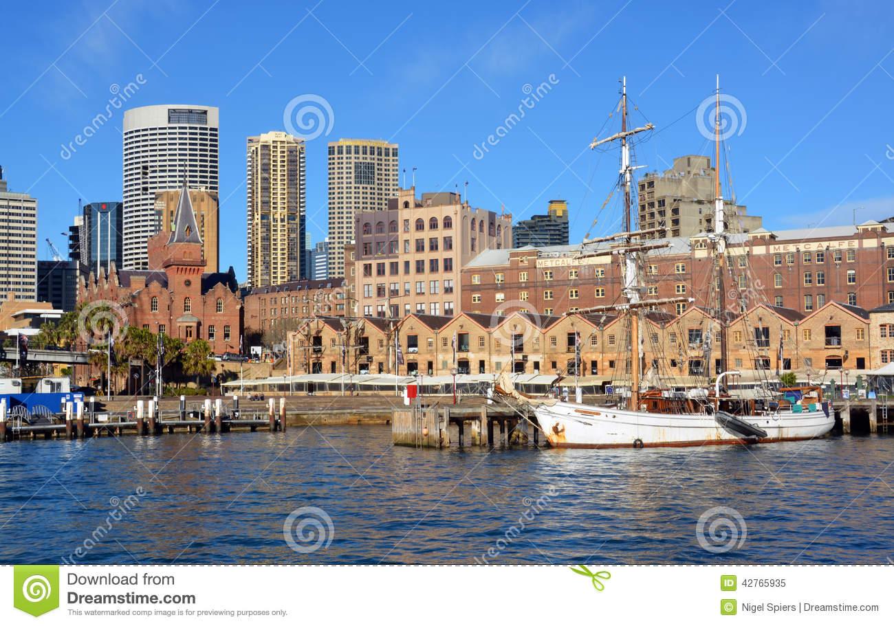 Sailing Ship Moored At Circular Quay, Sydney Editorial Image.